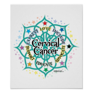 Cervical Cancer Lotus Poster