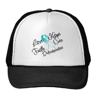 Cervical Cancer Love Hope Determination Trucker Hat