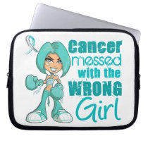 Cervical Cancer Messed With Wrong Girl Laptop Sleeve