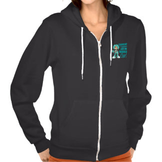 Cervical Cancer Messed With Wrong Girl Sweatshirt