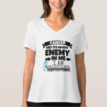 Cervical Cancer Met Its Worst Enemy in Me T-Shirt