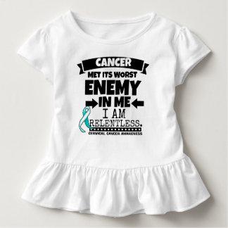 Cervical Cancer Met Its Worst Enemy in Me Toddler T-shirt