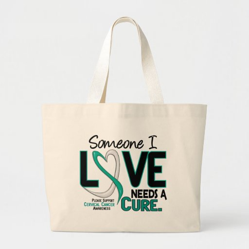 Cervical Cancer NEEDS A CURE 2 Canvas Bags