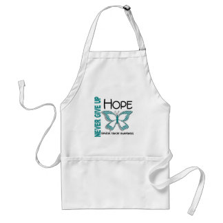 Cervical Cancer Never Give Up Hope Butterfly 4.1 Adult Apron