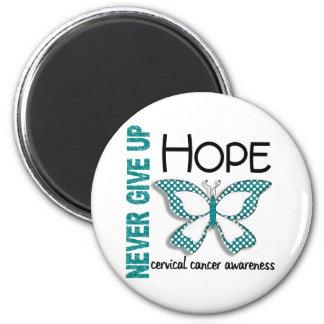 Cervical Cancer Never Give Up Hope Butterfly 4.1 Magnet