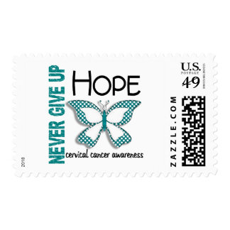 Cervical Cancer Never Give Up Hope Butterfly 4.1 Postage