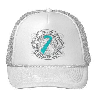Cervical Cancer Never Giving Up Hope Trucker Hat