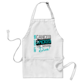 Cervical Cancer Picked The Wrong Diva Adult Apron