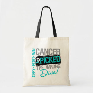 Cervical Cancer Picked The Wrong Diva Canvas Bags