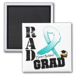 Cervical Cancer Radiation Therapy RAD Grad 2 Inch Square Magnet