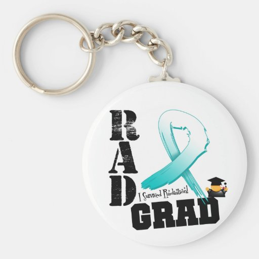 Cervical Cancer Radiation Therapy RAD Grad Key Chains