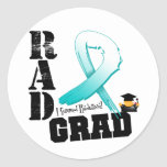 Cervical Cancer Radiation Therapy RAD Grad Round Sticker