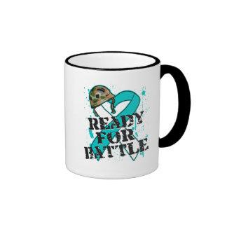 Cervical Cancer Ready For Battle Ringer Coffee Mug
