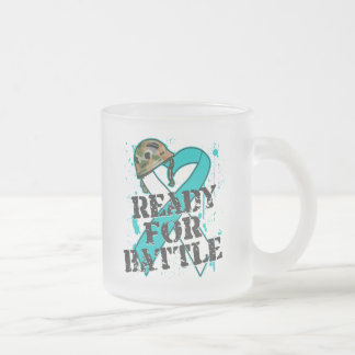 Cervical Cancer Ready For Battle 10 Oz Frosted Glass Coffee Mug