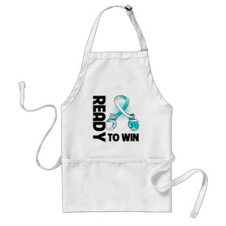 Cervical Cancer Ready To Win Adult Apron