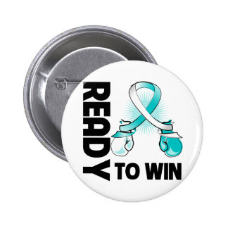Cervical Cancer Ready To Win 2 Inch Round Button