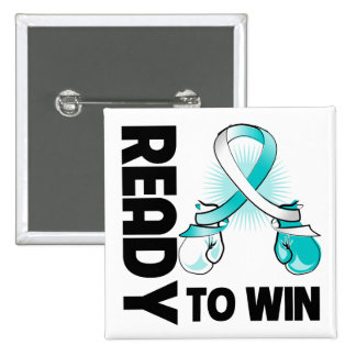Cervical Cancer Ready To Win 2 Inch Square Button