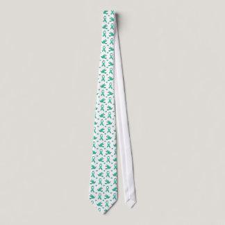 Cervical Cancer Ribbon Angel Tie