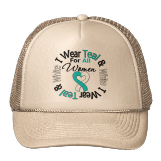 Cervical Cancer Ribbon For All Women Trucker Hat