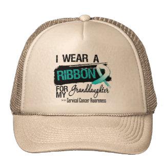 Cervical Cancer Ribbon For My Granddaughter Trucker Hats