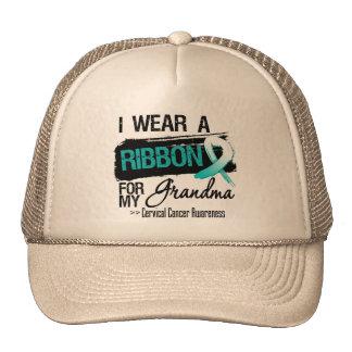 Cervical Cancer Ribbon For My Grandma Hat