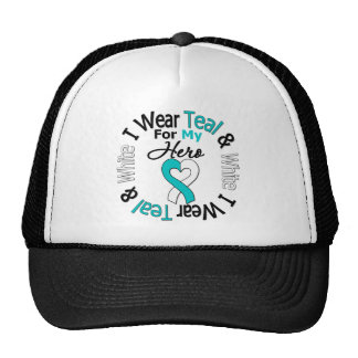 Cervical Cancer Ribbon For My Hero Trucker Hat