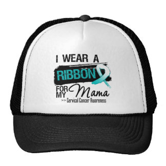 Cervical Cancer Ribbon For My Mama Hat
