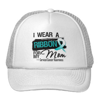 Cervical Cancer Ribbon For My Mom Mesh Hats