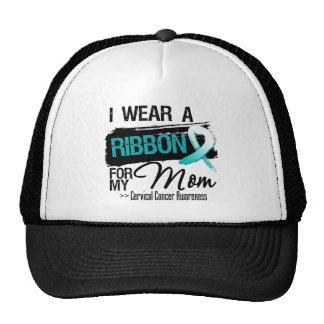 Cervical Cancer Ribbon For My Mom Mesh Hat
