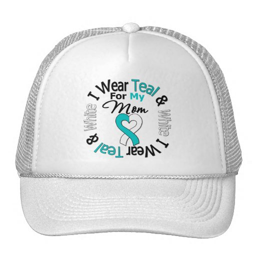 Cervical Cancer Ribbon For My Mom Trucker Hat