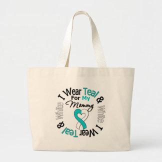 Cervical Cancer Ribbon For My Mommy Canvas Bag