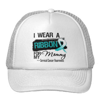 Cervical Cancer Ribbon For My Mommy Hats