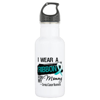 Cervical Cancer Ribbon For My Mommy 18oz Water Bottle