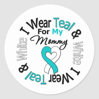 Cervical Cancer Ribbon For My Mommy Classic Round Sticker
