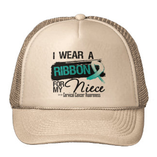 Cervical Cancer Ribbon For My Niece Trucker Hat