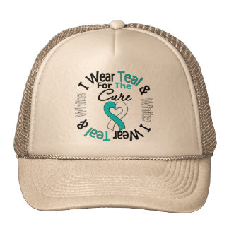 Cervical Cancer Ribbon For The Cure Trucker Hat