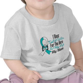 Cervical Cancer Ribbon My Hero My Mom Tees