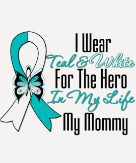 Cervical Cancer Ribbon My Hero My Mommy Shirts