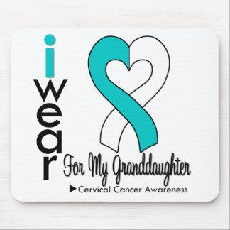 Cervical Cancer Ribbon Support Granddaughter Mouse Pad