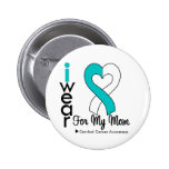 Cervical Cancer Ribbon Support Mom Button