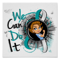 Cervical Cancer Rosie Cartoon WCDI Poster