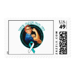 Cervical Cancer - Rosie The Riveter - We Can Do It Postage Stamps