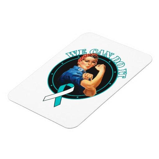 Cervical Cancer - Rosie The Riveter - We Can Do It Vinyl Magnet