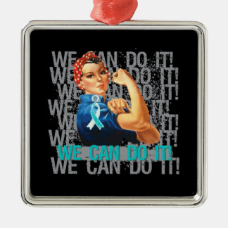 Cervical Cancer Rosie WE CAN DO IT Ornaments