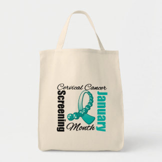 Cervical Cancer Screening Month Ribbon Bags