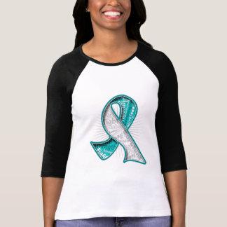 Cervical Cancer Slogan Watermark Ribbon Shirt