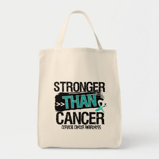 Cervical Cancer - Stronger Than Cancer Tote Bags