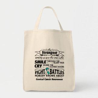 Cervical Cancer Strongest Among Us Tote Bag