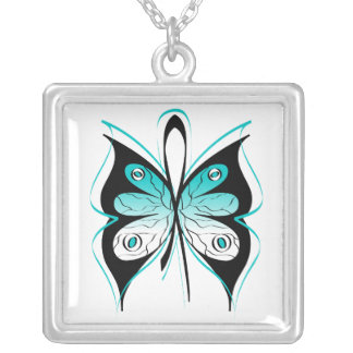 Cervical Cancer Stylish Butterfly Awareness Ribbon Jewelry