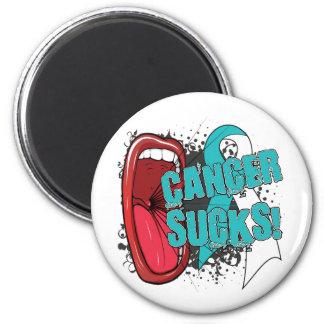 Cervical Cancer Sucks Scream It 2 Inch Round Magnet